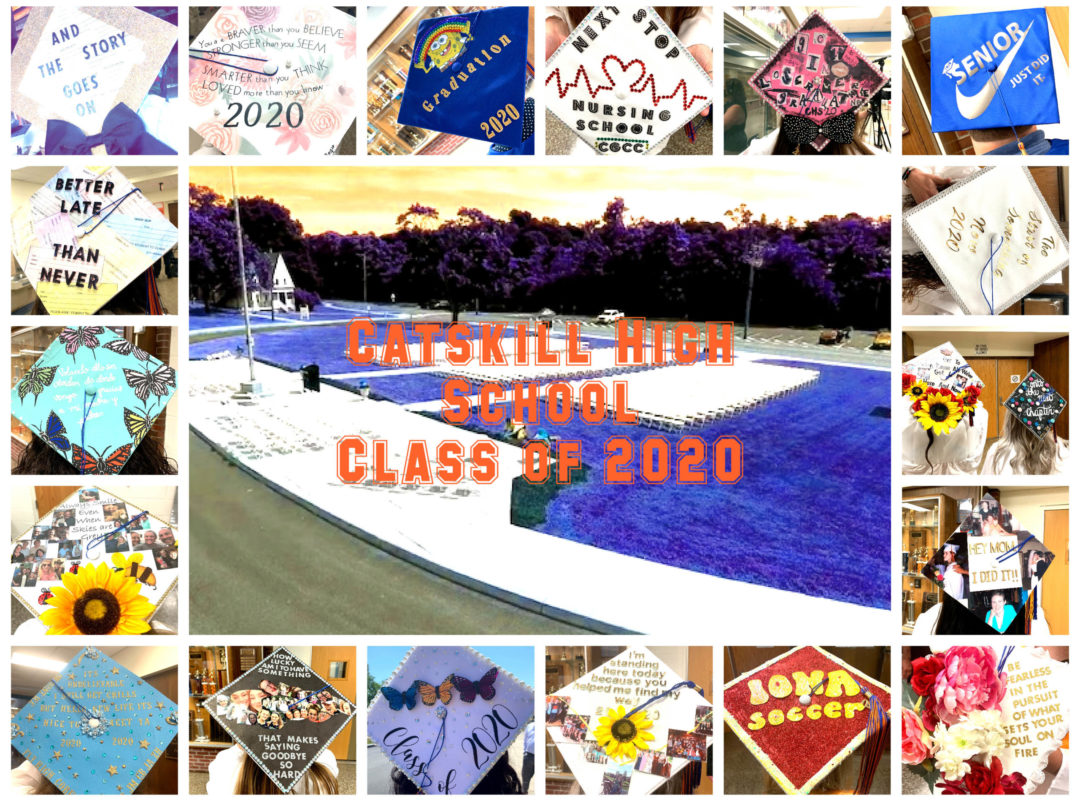 Catskill High School Class of 2020 Caps collage