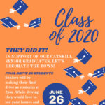 Flyer with graduation caps and Class of 2020
