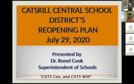 Title Card for July 30 Reopening of Schools Meeting Video