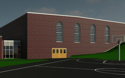 artistic rendering of Middle School Gym Addition