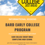 Bard Early College Info Sessions Flyer