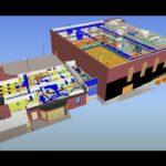 3-D Rendering of Gymnasium