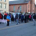 march forms up on street