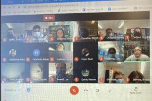 Screen shot of google classroom meeting
