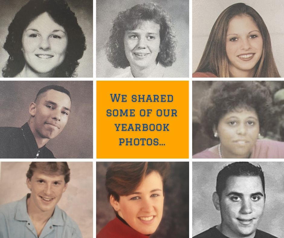 Staff yearbook photo collage