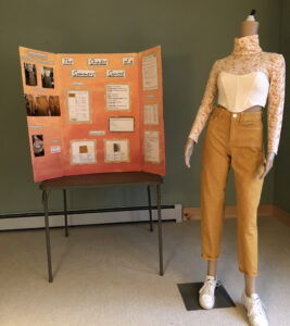 display board and mannequin