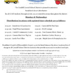 Food Service Flyer with Busses ad District logo