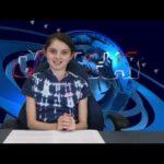 girl at news desk