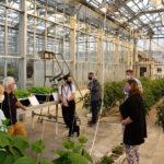 Staff visits greenhouse